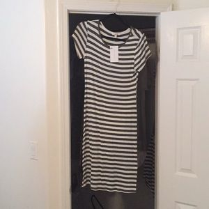 Grey and White Striped Shop Stevie Dress